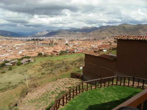 A view of the city of Cusco from the hostel. Cusco, Peru.
