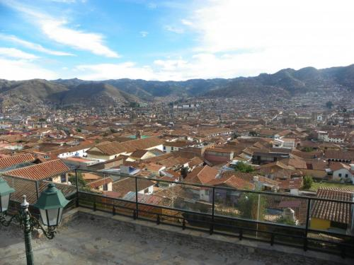 A view from the walking tour in Cusco on Day 1. Cusco, Peru.